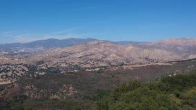 景色点圣塔内斯加利福尼亚空中录影 股票录像