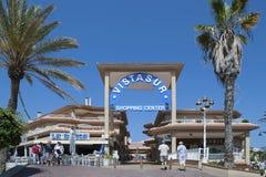 景色苏尔购物中心, Los Cristianos,阿罗纳,特内里费岛- 2017年4月12日 库存图片
