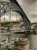 景色del普恩特en波尔图葡萄牙 免版税图库摄影