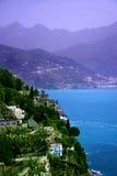 景色della costiera Amalfitana意大利 免版税库存照片
