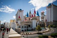 晴天在拉斯维加斯 城堡 免版税库存图片