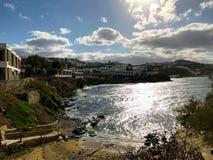 晴朗和明亮的米科诺斯岛 库存图片