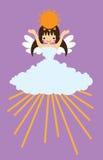 晴朗天气的天使 库存照片