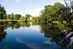 晴朗日的湖 免版税库存图片