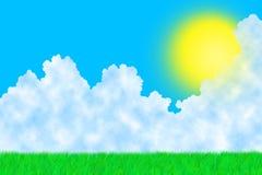 晴朗日的草 向量例证