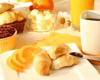 晴朗早餐的早晨 图库摄影