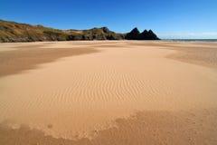 晴朗海滩的横向 免版税库存照片