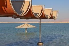 晴朗海滩的死海 免版税图库摄影