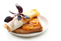 晴朗的三明治 免版税库存照片