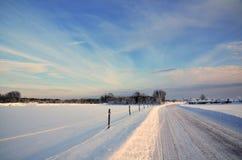 晴朗的冬天横向 库存图片