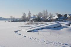 晴朗的冬日在俄罗斯 库存图片