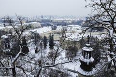 晴朗的冬日在布拉格 免版税图库摄影