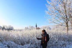 晴朗的冬日 免版税库存图片