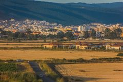 晴朗的海滩在保加利亚 库存照片