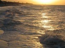 晴朗的海滩 免版税库存图片