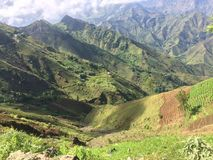 晴朗的谷在海地 图库摄影