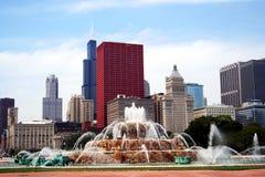 晴朗芝加哥的日 库存图片