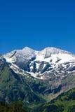 晴朗阿尔卑斯的日 库存图片