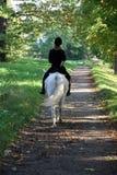 晴朗骑马的路 库存照片