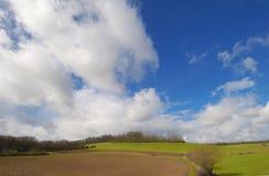 晴朗cloudscape的日 免版税图库摄影