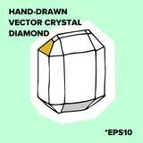 水晶传染媒介例证和时髦象金刚石玻璃容器 免版税库存图片