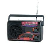 晶体管收音机的古板的设计 免版税库存图片