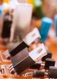 晶体管电容器电阻器 免版税库存图片