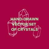 水晶例证和时髦象金刚石玻璃容器 库存照片