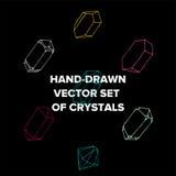 水晶例证和时髦象金刚石玻璃容器 免版税库存图片