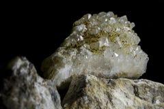 水晶假钻石的晶族 库存照片