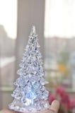 水晶冰圣诞树 免版税库存图片