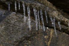 水晶冰柱 库存图片