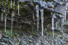 水晶冰柱 图库摄影