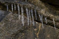 水晶冰柱 免版税库存照片