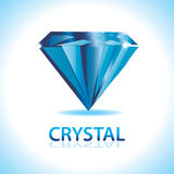 水晶商标 免版税库存图片
