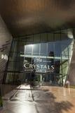 水晶在市中心在拉斯维加斯, 2013年4月19日的NV 免版税库存照片