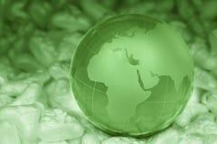 水晶地球 库存照片
