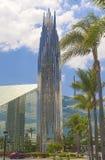 水晶大教堂教会作为称赞和崇拜上帝地方在加利福尼亚 免版税库存照片