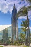 水晶大教堂教会作为称赞和崇拜上帝地方  库存照片