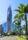 水晶大教堂是一个教堂在加利福尼亚,美国 免版税库存照片