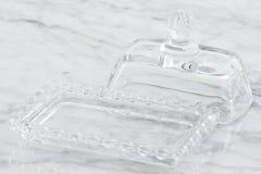 水晶奶油碟 免版税图库摄影