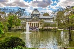 水晶宫在马德里Retiro公园  库存照片