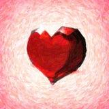 水晶心脏。 皇族释放例证