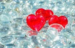 水晶心脏 库存图片