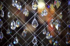 水晶接近在镜子背景 库存照片