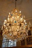 水晶枝形吊灯在哥本哈根 库存图片