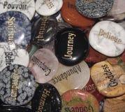 水晶棕榈石头 免版税库存照片