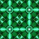 从水晶正方形的绿色几何样式 图库摄影