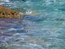 水晶海浪 免版税库存图片