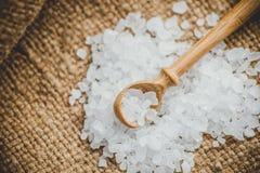 水晶海盐 库存图片